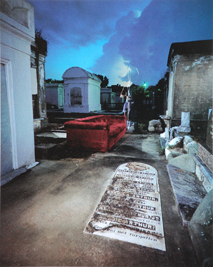 Self Portrait, Metairie Cemetary New Orleans, 1984